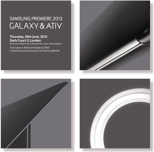 Samsung presenterar ny Galaxy-modell i London 20:e juni