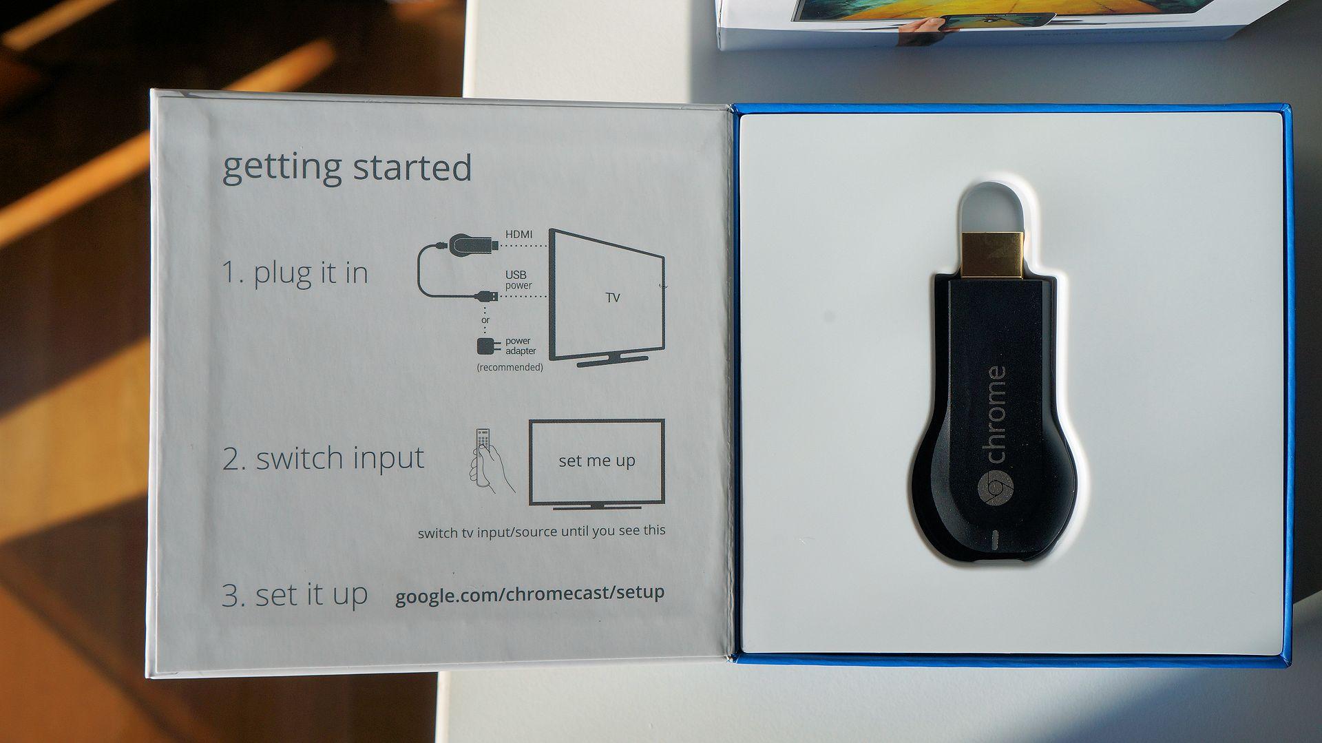 Chromecast usa internet