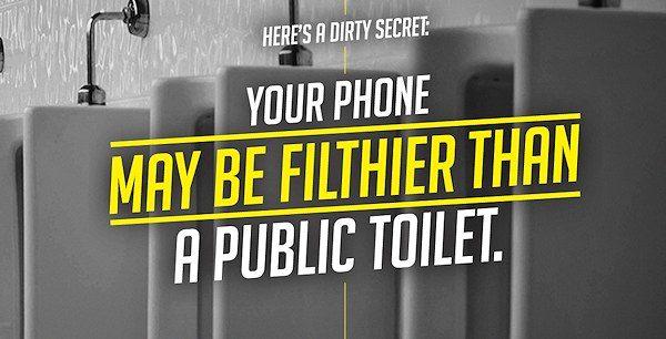 Sony: Din telefon kan vara smutsigare än en offentlig toalett