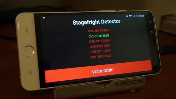 """Säkerhetsbristen kallad """"Stagefright"""" är inte patchad i Ulefone BeTouch 2."""