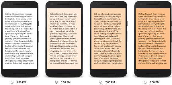 Google Play Books får nattläge som filtrerar bort blått ljus