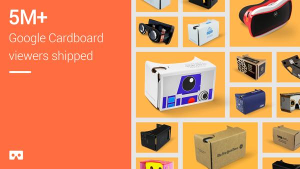 Google har levererat fem miljoner exemplar av VR-lösningen Cardboard