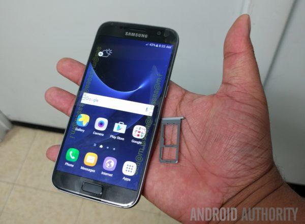 Samsung Galaxy S7 dyker upp i det vilda