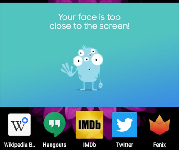 Ny Samsung-app varnar om du har ögonen för nära skärmen