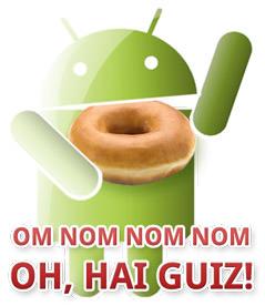 Android Donut - OM NOM NOM NOM