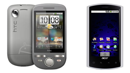 HTC Tattoo - Acer Liquid