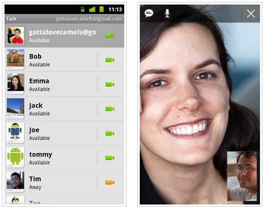Google Talk med röst- och videosamtal
