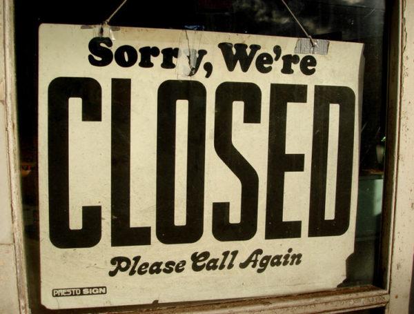 Vi har stängt
