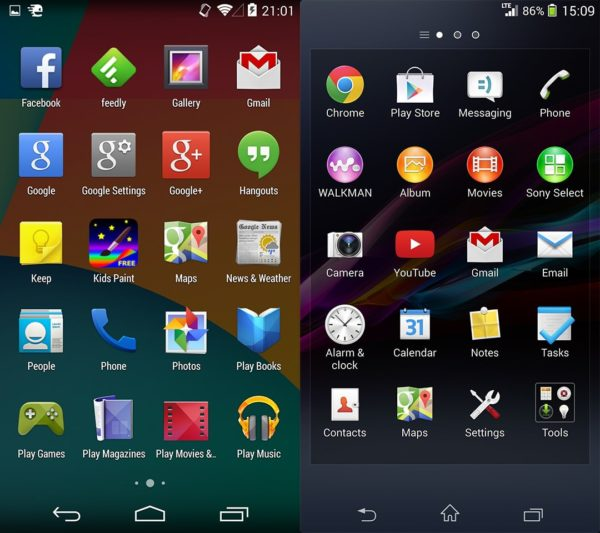 sony-ux-vs-original-android-2