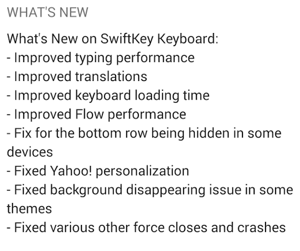 swiftkey-changelog