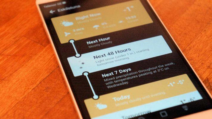 Utvecklaren av Weather Timeline tar bort väderappen från Google Play