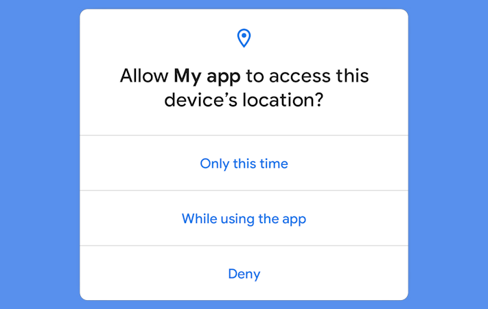 Endast appar som godkänts av Google kommer kunna få ständig tillgång till GPS