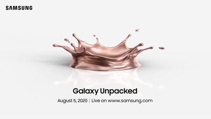 Samsung Galaxy Note 20 presenteras 5 augusti