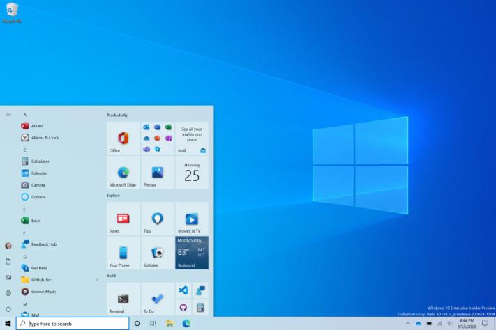Startmenyn i Windows 10 kommer få ny design [Off topic]
