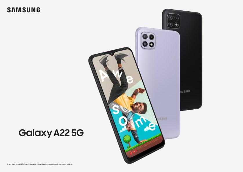 Samsung presenterar 5G-telefonen Galaxy A22